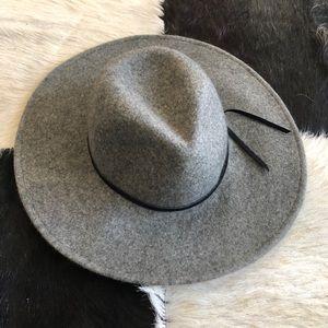 Free People Grey Felt Hat
